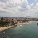 Coastline in Biarritz