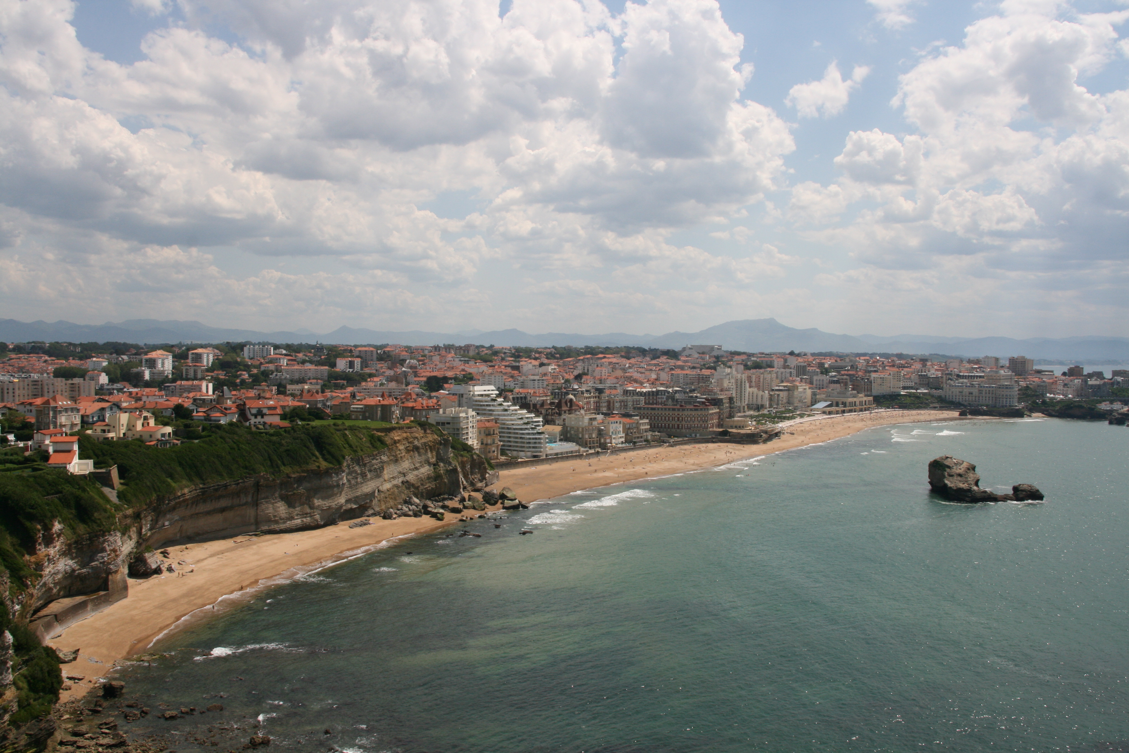Coastline in Biarritz